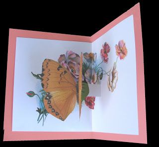 Extreme Cards and Papercrafting: Easy Butterfly Pop Up Card