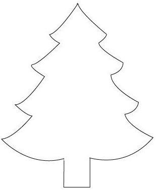 Adorable image regarding printable christmas tree pattern