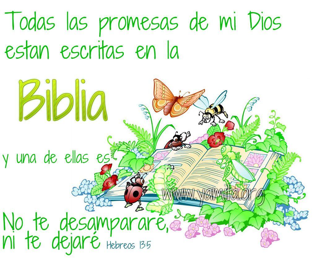 Versiculos De La Biblia De Animo: Todas Las Promesas De Mi Dios Estan Escritas En La Biblia