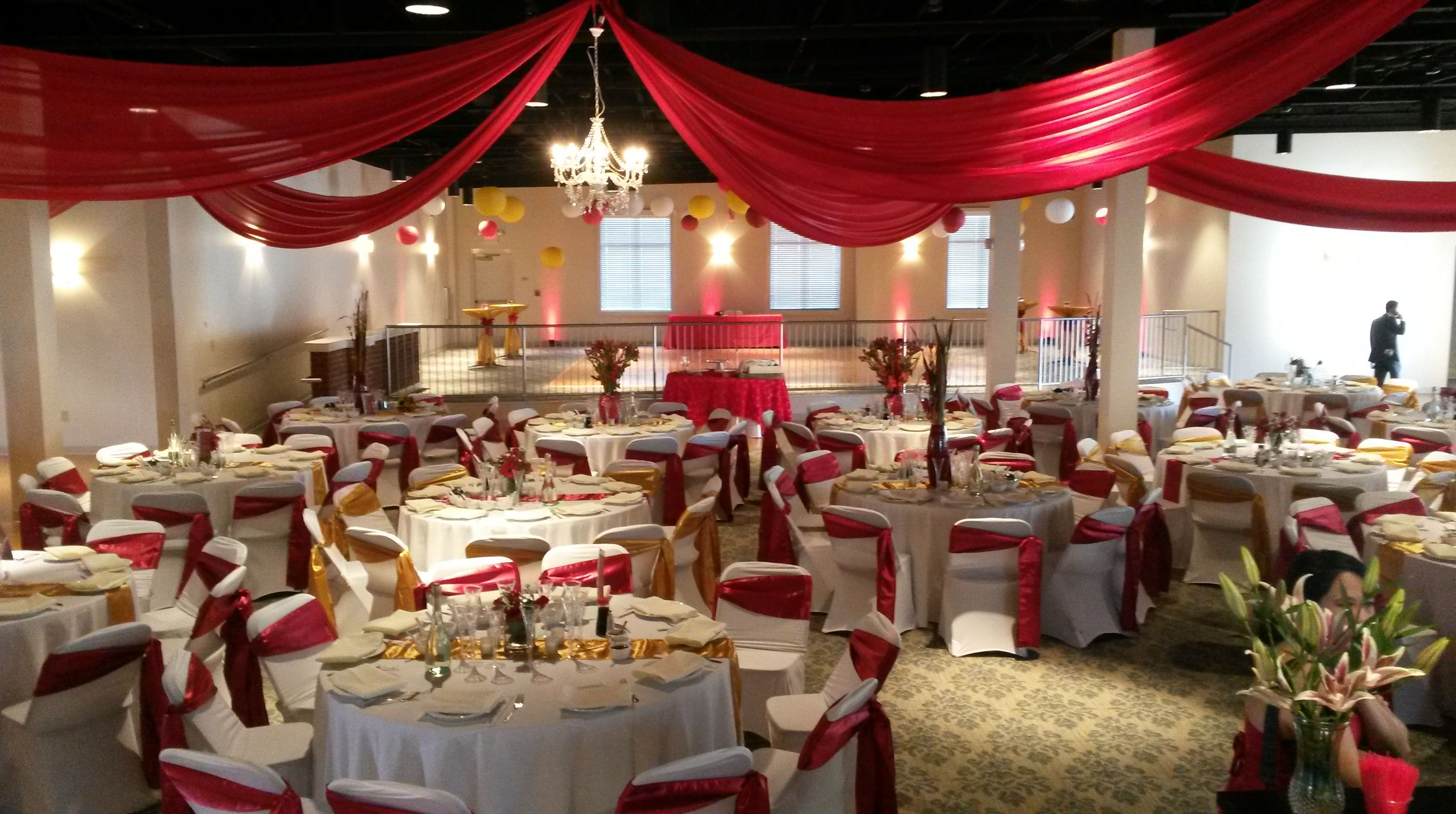 Beautiful Draped Ceiling For A Wedding Reception Events At