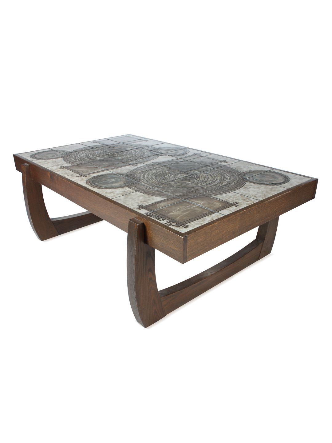 Mid Century Modern Tile Top Coffee Table By Vintique At Gilt Tiled Coffee Table Coffee Table Coffee Table Setting