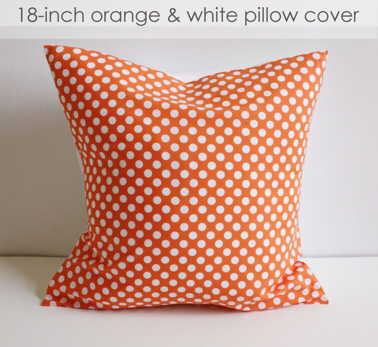 Polka Dot Rocking Chair Cushions Hanging Egg Zippay Orange And White Pillow Covers Set Of 2 25