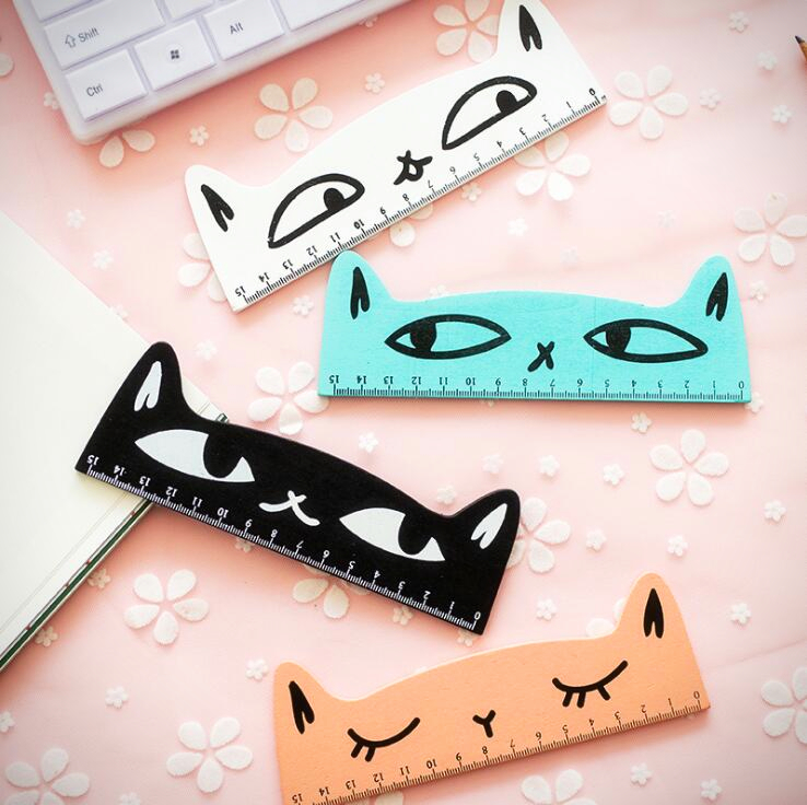 Candy Colour Kitty Cat Ruler (4 Designs) #kittycats