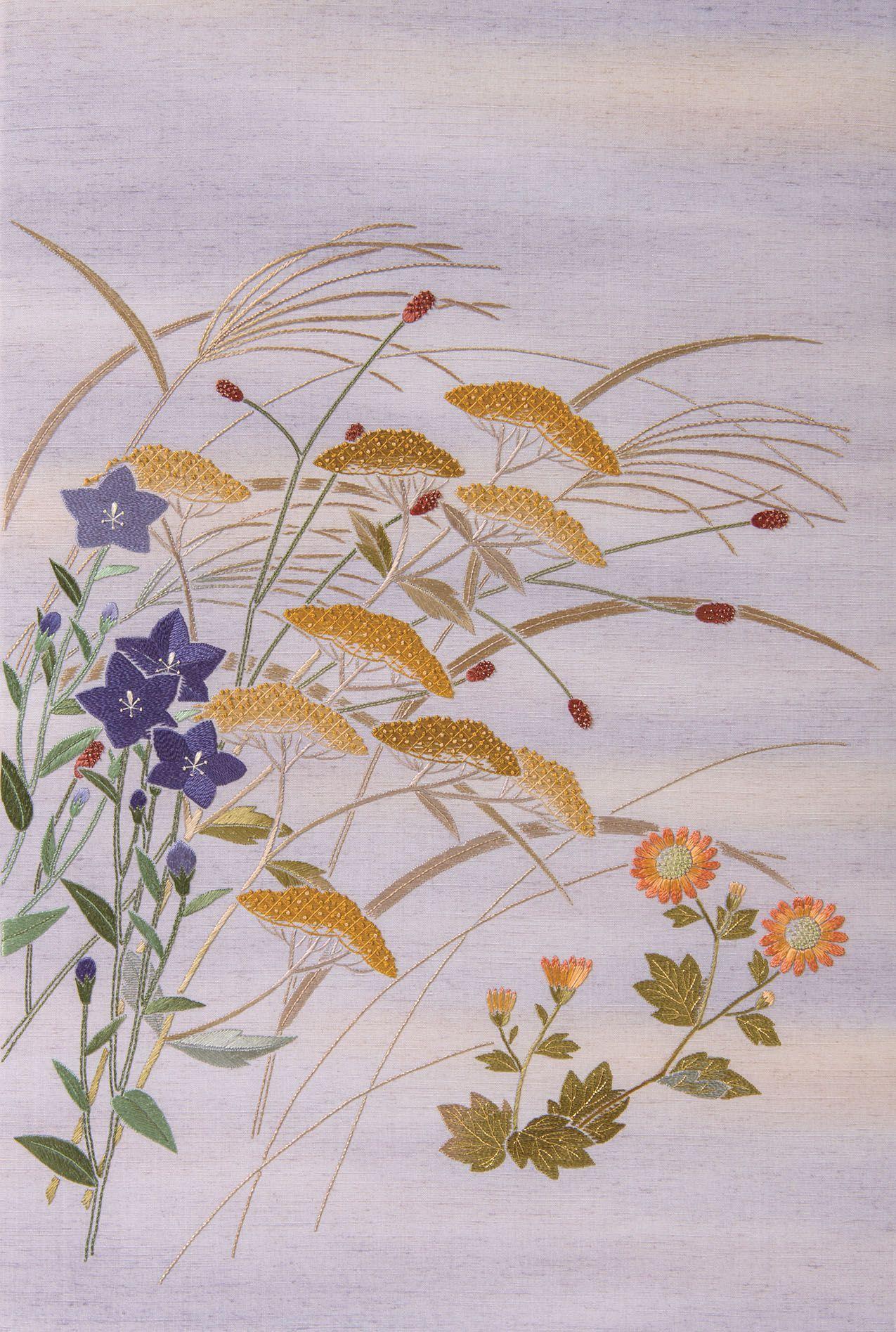 日本刺繍ギャラリー研究コース作品 日本刺繍 紅会くれないかい