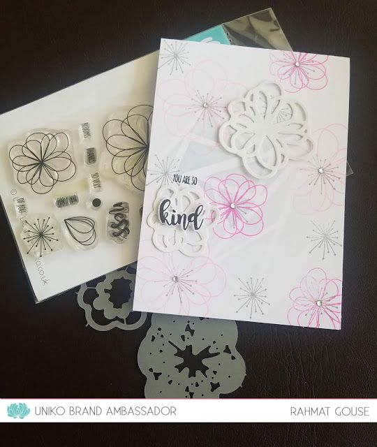 uniko introducing designer dies kindness blooms in 2020
