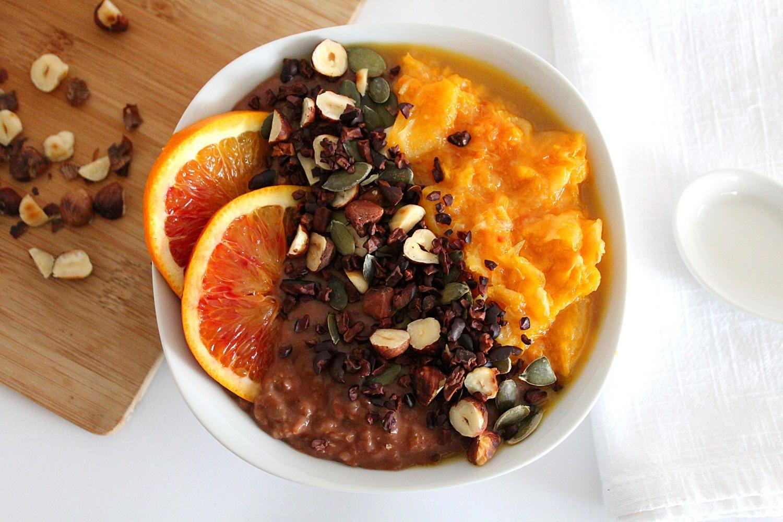 Porridge Chocolat Orange Recette Sans Lait Et Vegetarienne Avec