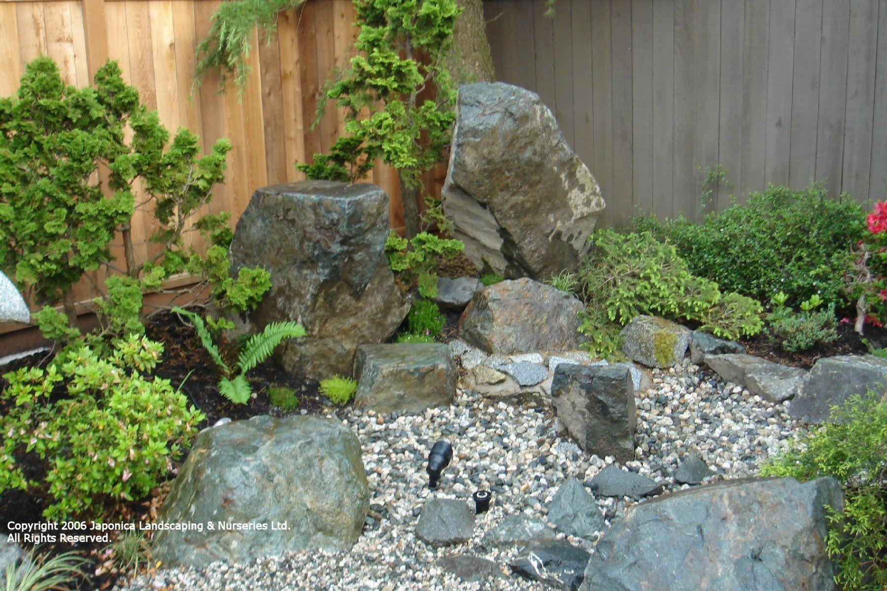 Pictures Of Small Garden Rockeries Garden Post Rock Garden