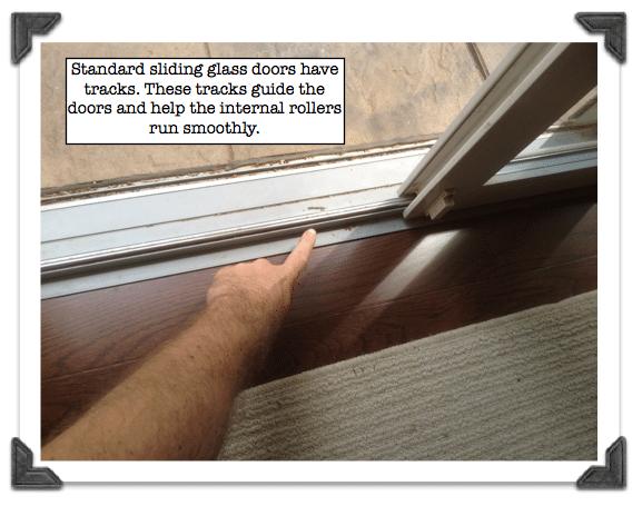 Standard Sliding Glass Doors Have Tracks Diy Cleaning Sliding Door
