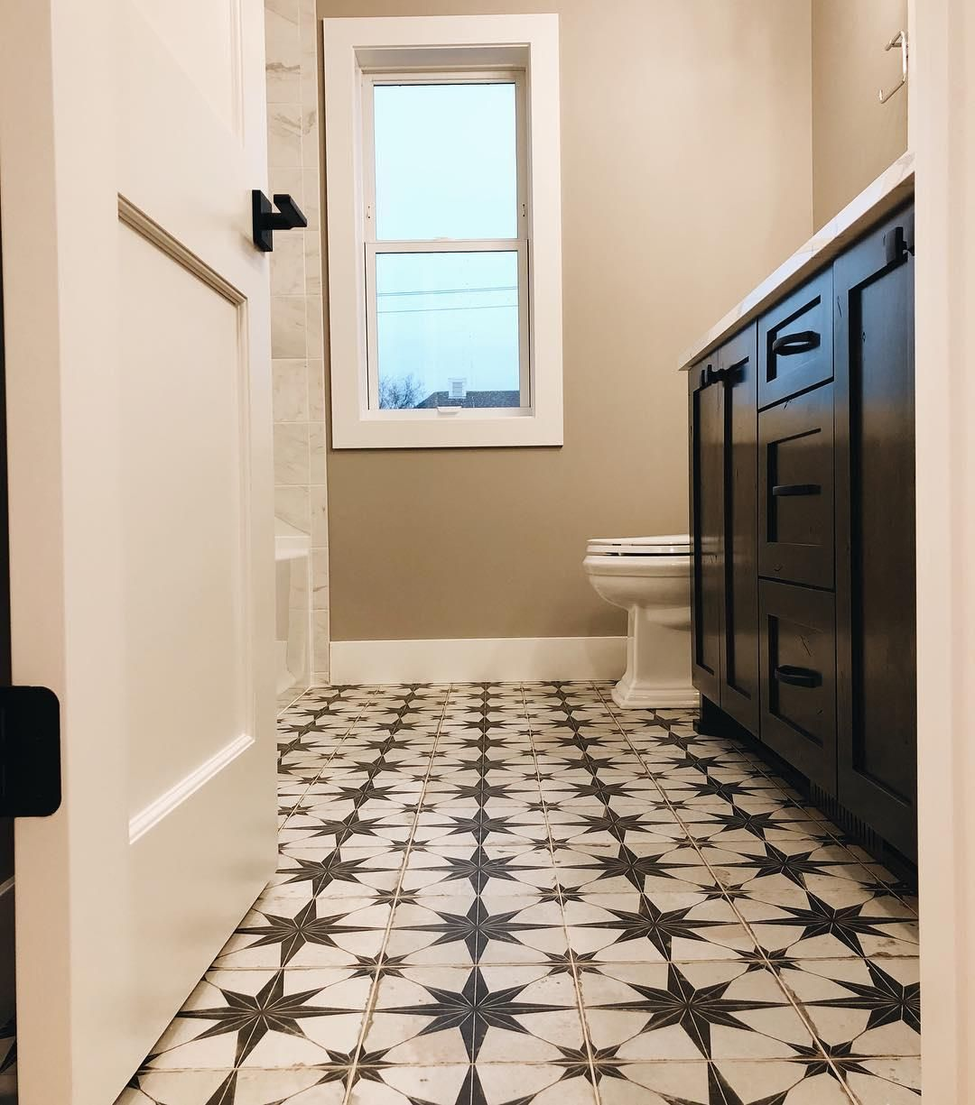 Check Out Htis Modernfarmhouse Bathroom Designed By Thedivinelivingpsace Unique Tiles Can Do A Lot To Add P Wall And Floor Tiles The Tile Shop Tile Floor
