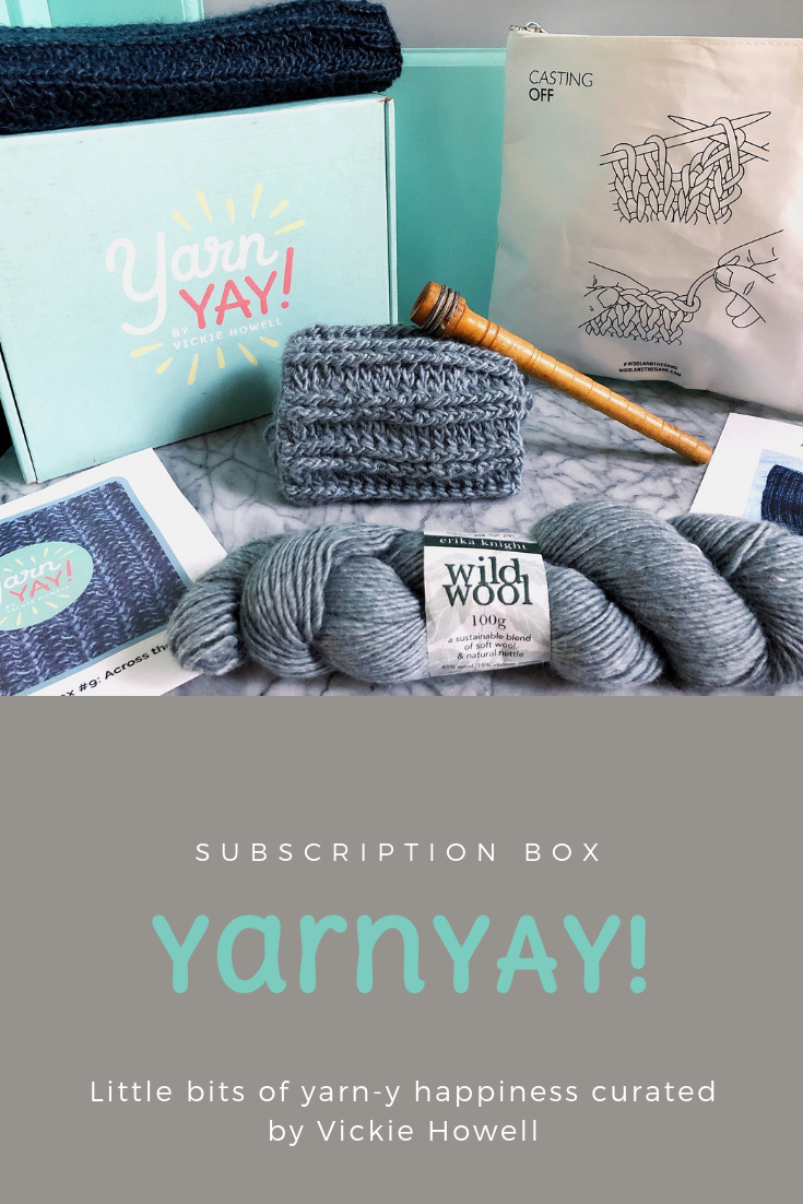 Monthly Subscription Box Service By Diy Expert And Personality Vickie Howell Spots Open On The 13th O Subscription Boxes Vickie Howell Knitting Subscription