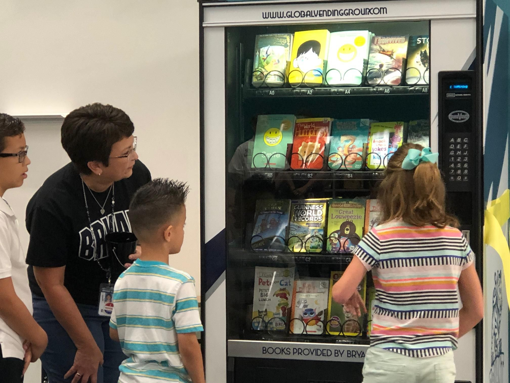 Books not candy in this school vending machine at katy