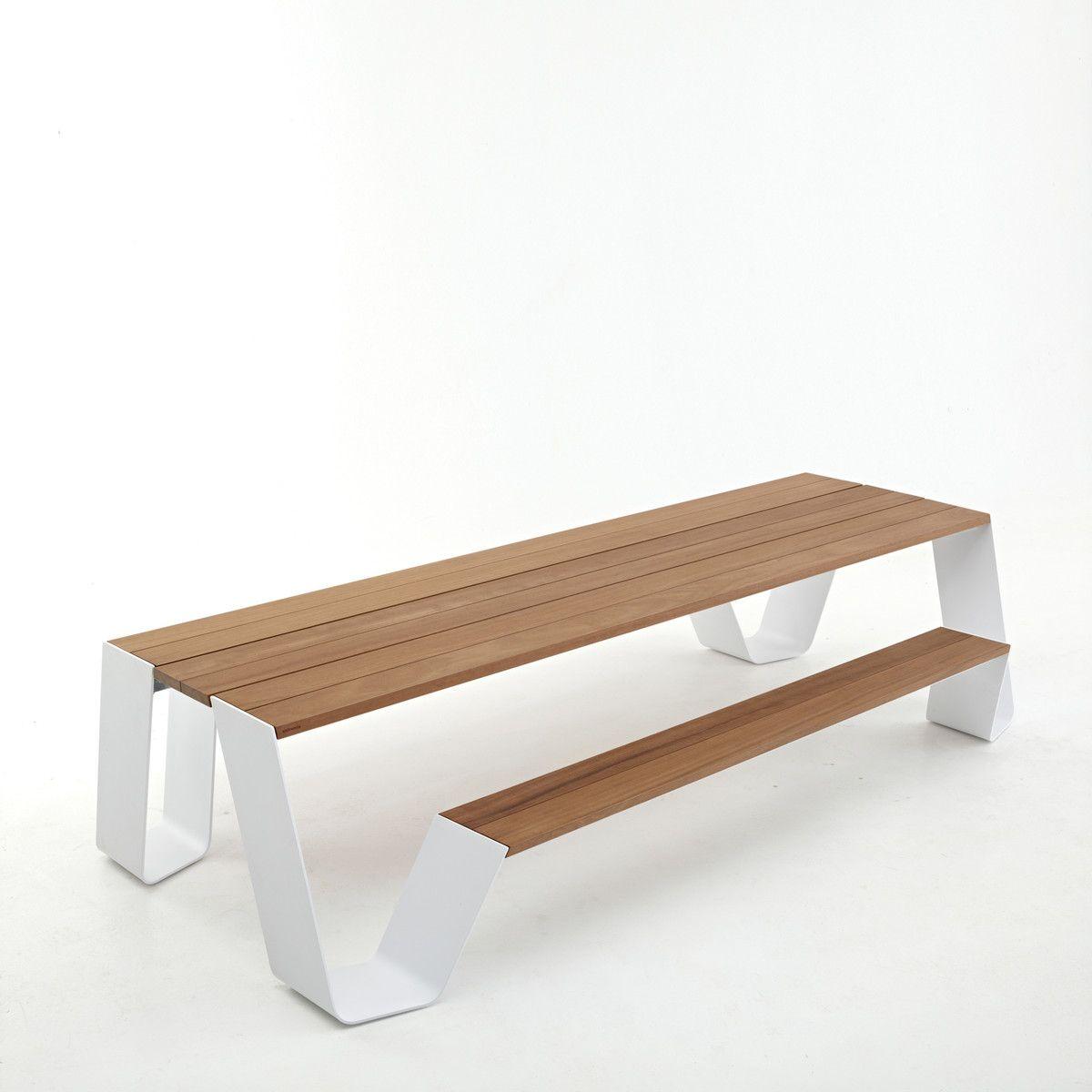 Extremis   Hopper Tisch, Weiß / H.O.T. Wood