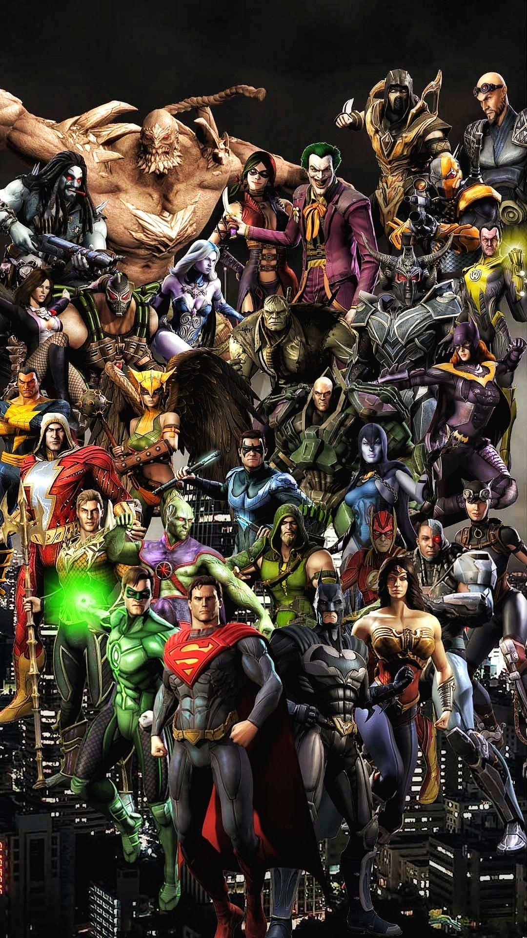 Injustice Gods Among Us Wallpaper For Smartphone Dc Comics Characters Comic Villains Dc Comics Superheroes