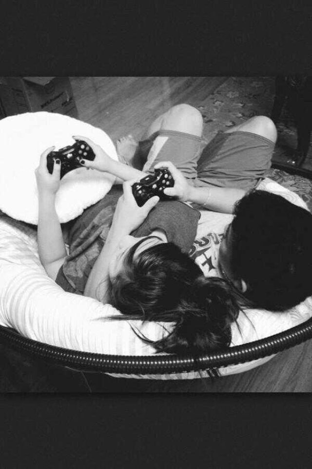 Cute Couples Playing Video Games