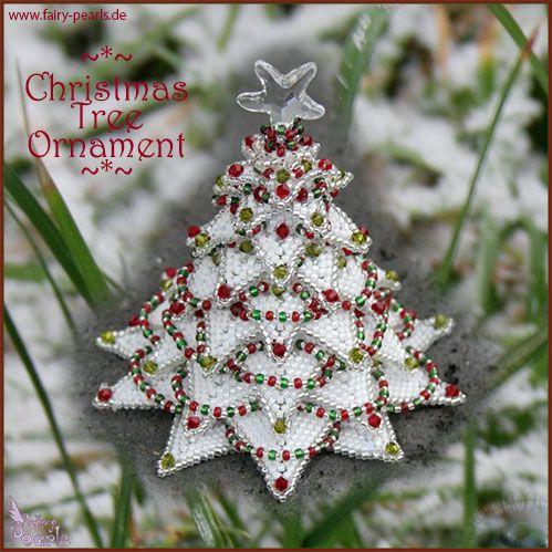 paula adams christmas tree  Christmas Tree Ornament   Beading