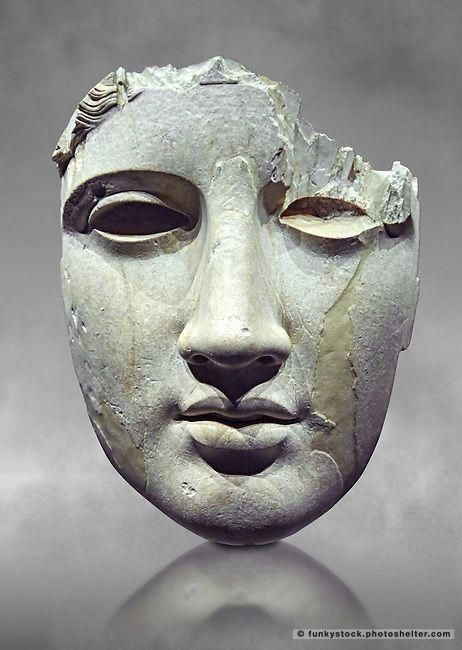 Roman mask from the National Roman Museum, Rome, Italy | Funkystock Picture & Image Library Resource
