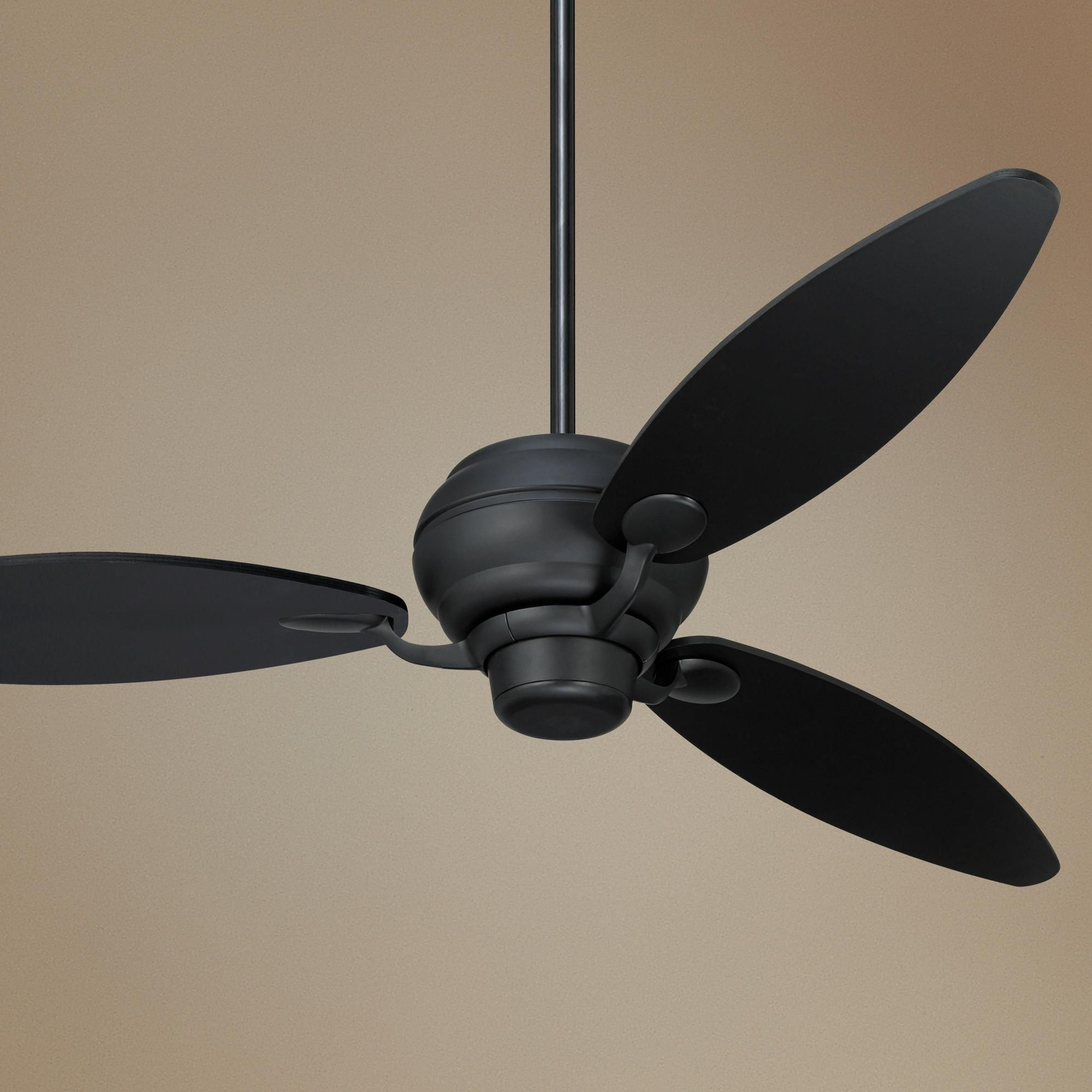 "60"" Spyder Matte Black Three Blades Ceiling Fan -"