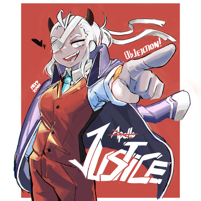 Justice As Apollo Justice From Ace Attorney Helltaker Apollo Justice Justice Ace