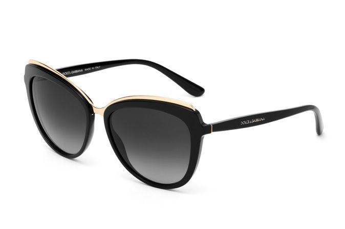 ae50f9115d0 Shiny black cat-eye sunglasses for women DG4304