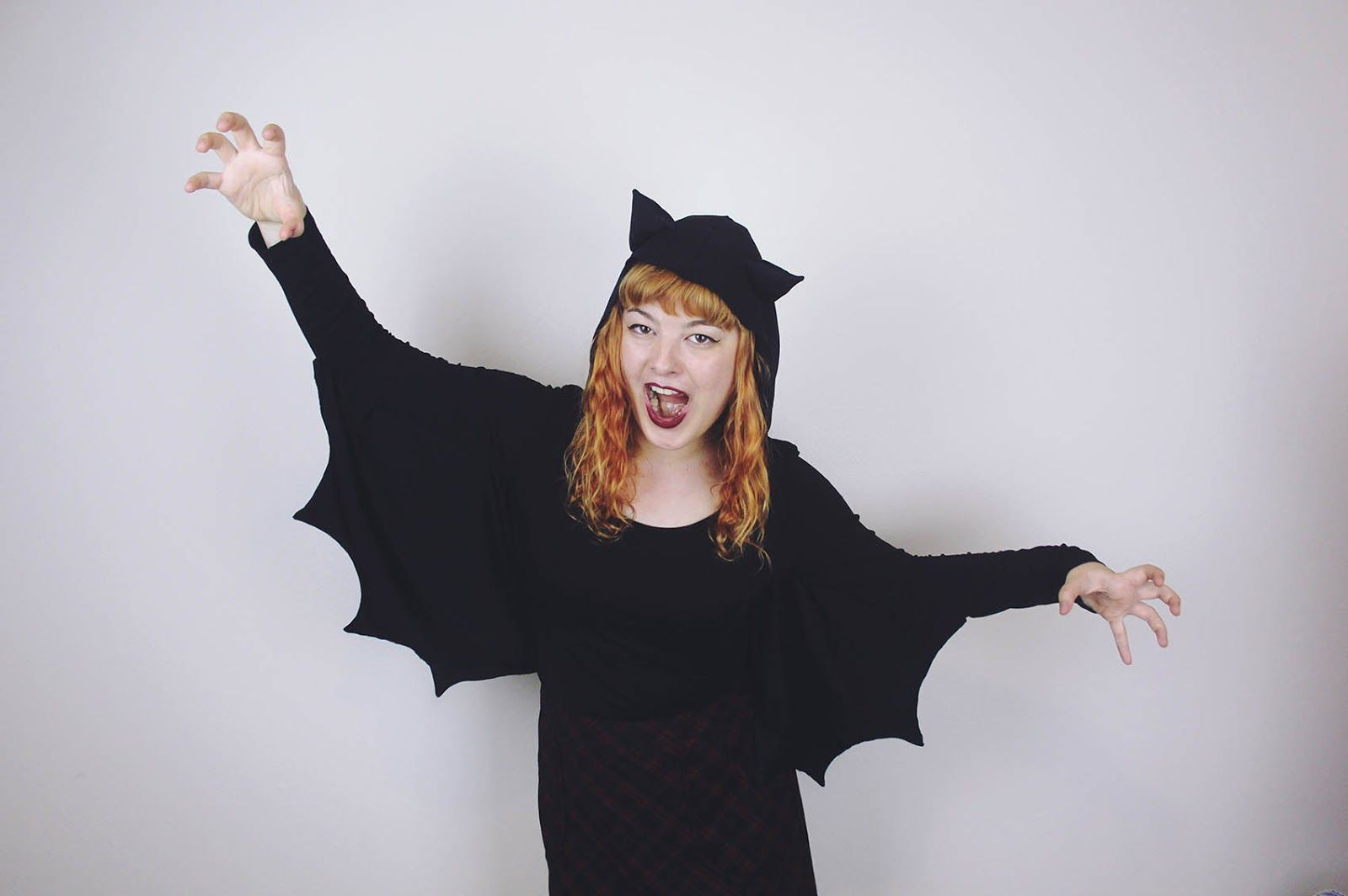 The Pineneedle Collective: DIY Bat Wing Hooded Shirt | Make Thrift Buy #26 - Halloween Edition!