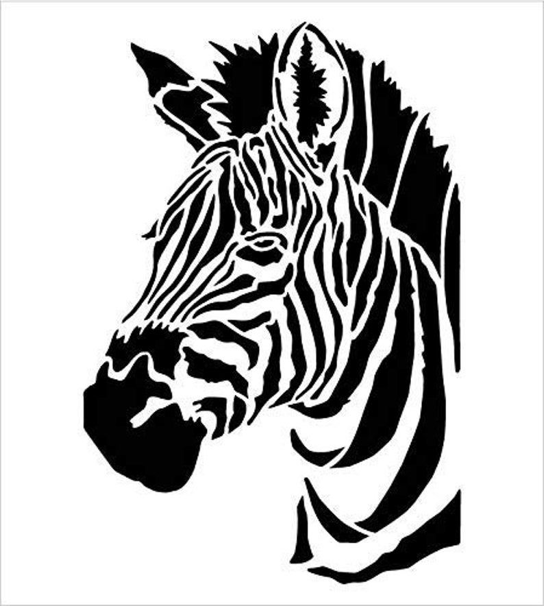 Zebra Portrait Stencil By Studior12 Zoo Animals Craft Educational Play Room Diy Creativity Fun Kids Gift Family School Nursery Home In 2020 Zoo Animal Crafts Zoo Animals Animal Crafts