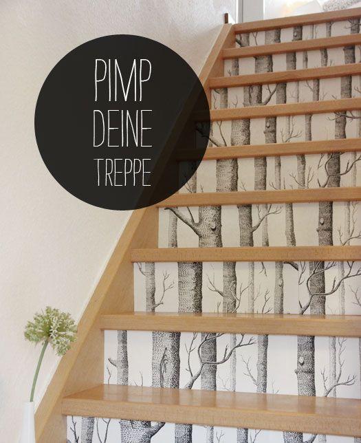 Wandgestaltung Treppenaufgang Gestalten: DIY: Pimp Deine Treppe
