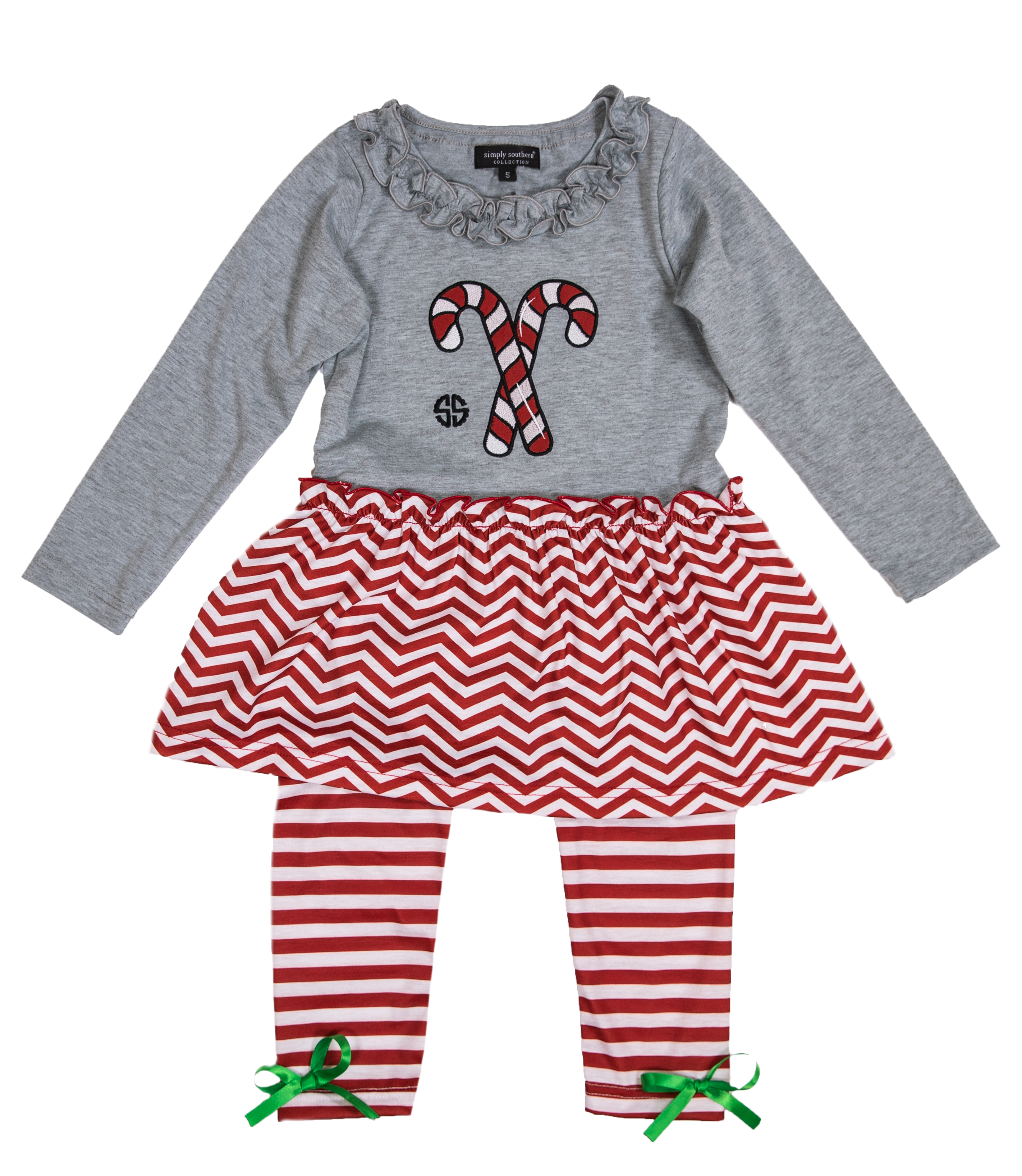 Toddler 'Candy Canes' Dress Set by Simply Southern in 2020