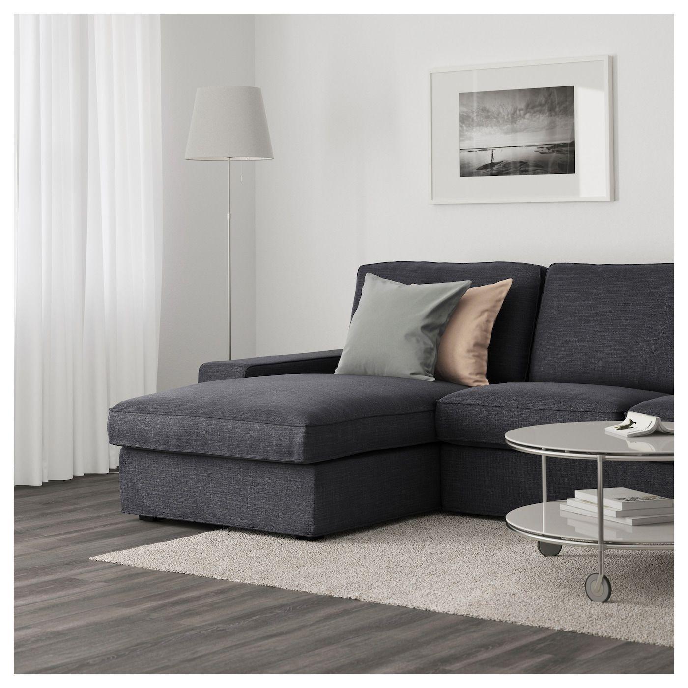 Kivik 3er Sofa Hillared Mit Recamiere Anthrazit 3er Sofa Chaiselongue Sofa Design