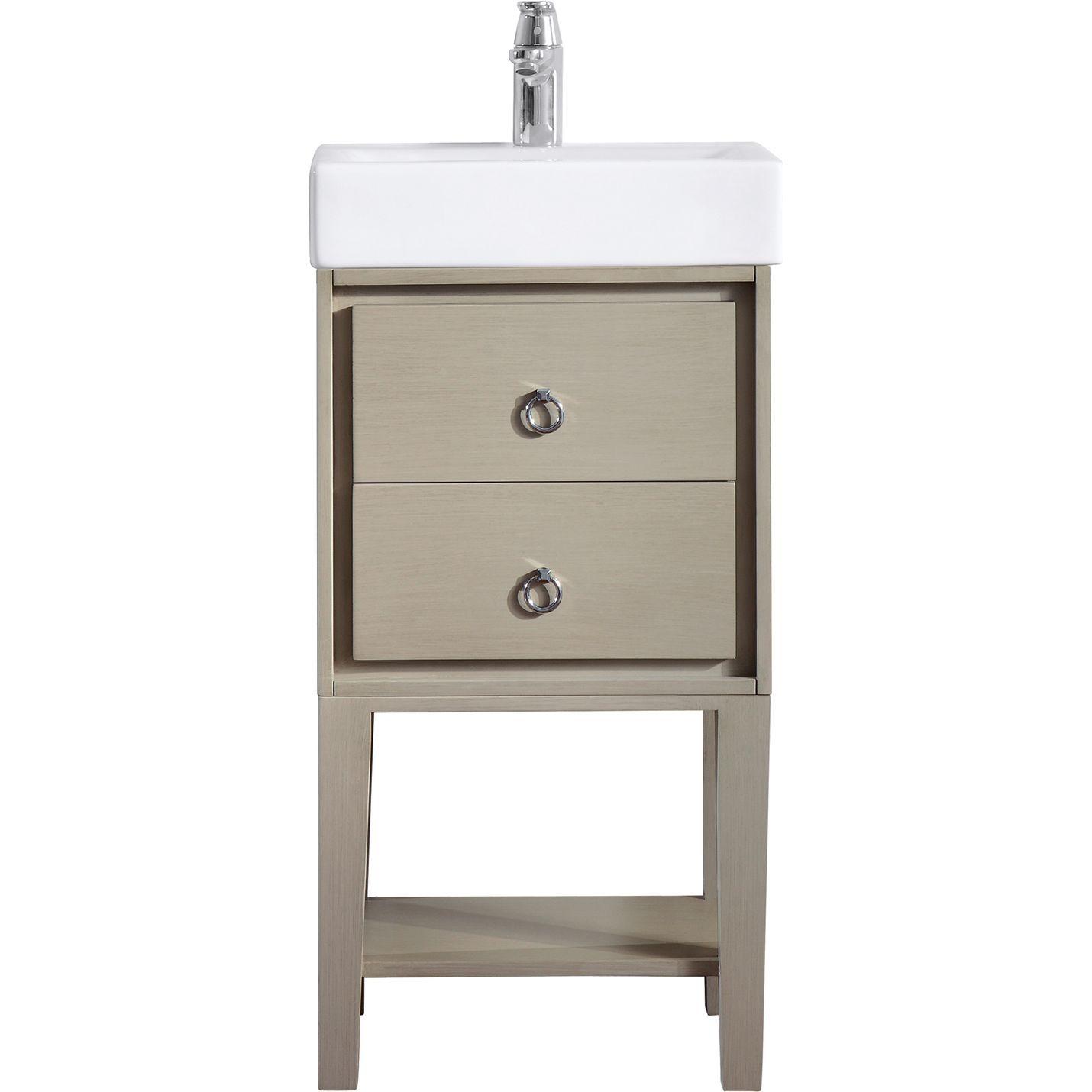 Avanity Kent Vs18 Tg Kent Tpe Glaze Single Basin Bathroom