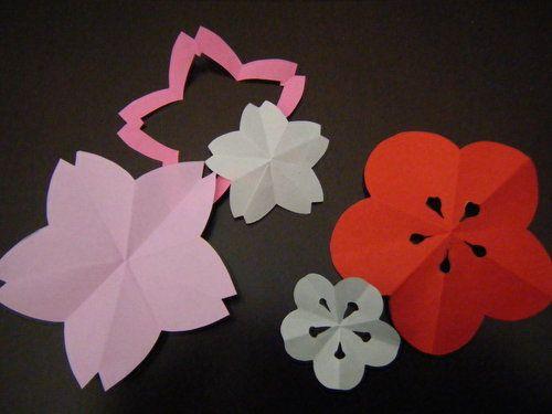 Nanapi ナナピ 梅の花 折り紙 桜 切り絵 切り絵