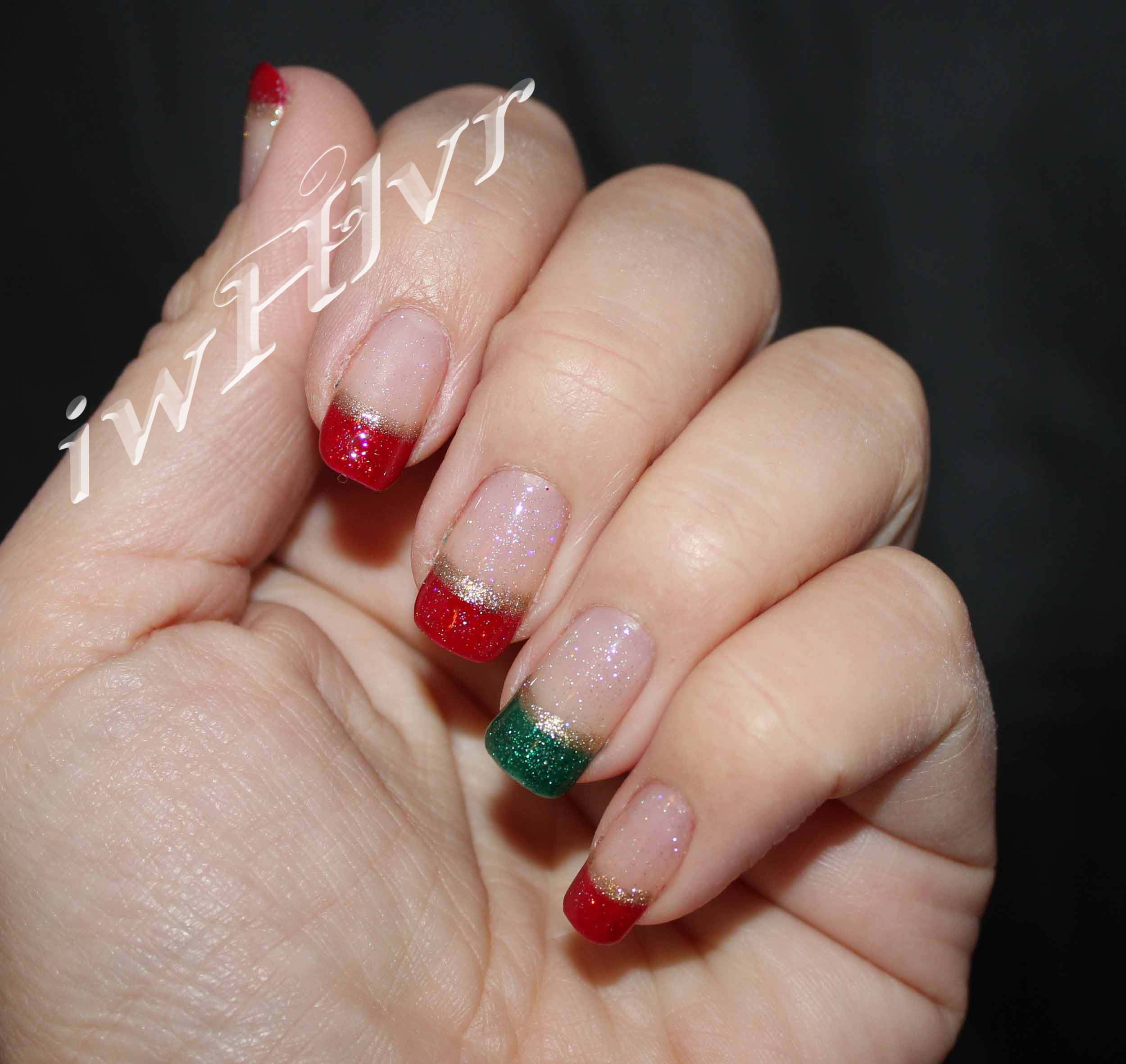 IWHLVR Christmas nail art funky french manicure | IWHLVR Nail Art ...