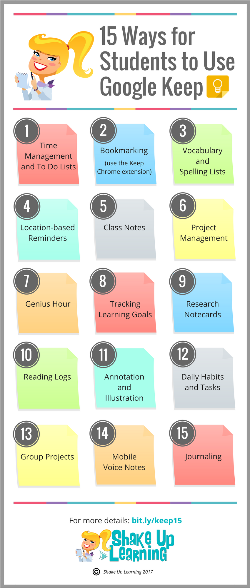 15 Ways for Students to Use Google Keep [infographic] | All