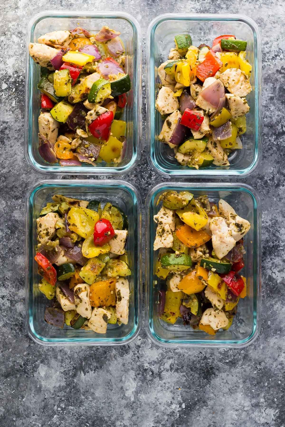 meal-prep-pesto-chicken-veggie-pitas-2