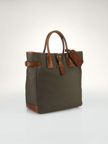 31e42fd64296 Canvas-Leather Tote - Polo Ralph Lauren Bags   Business - RalphLauren.com