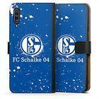 Samsung Galaxy A70 Tasche Hülle Flip Case - Schalke 04 - Spraylogo