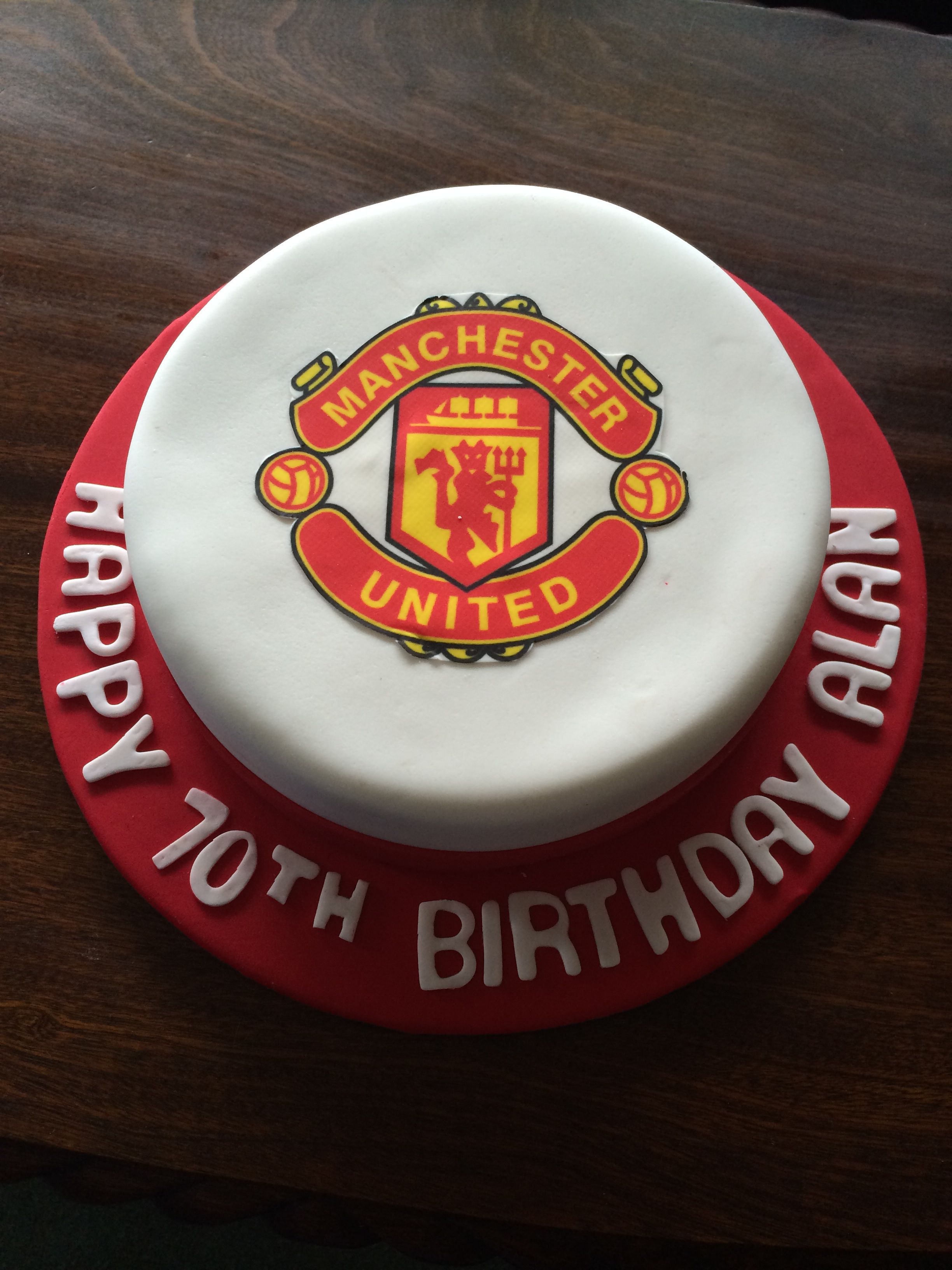 Manchester United Cake Birthday Sweets Cake Manchester United Cake