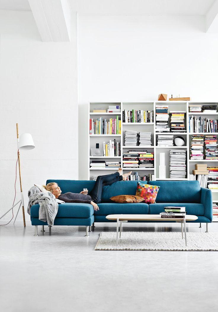 Boconcept Fargo Sofa Petrol Blue Living Room Inspiration House Interior Home And Living