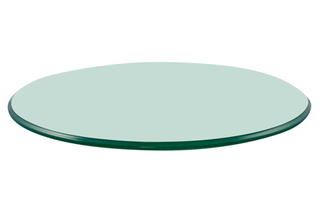 d31aa7c09244 32 Round Glass Table Top, 3/8 Thick, Pencil Polish Edge, Tempered Glass