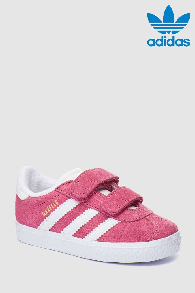 new style 3f9cc 88b56 Girls adidas Originals Pink Gazelle Velcro - Pink