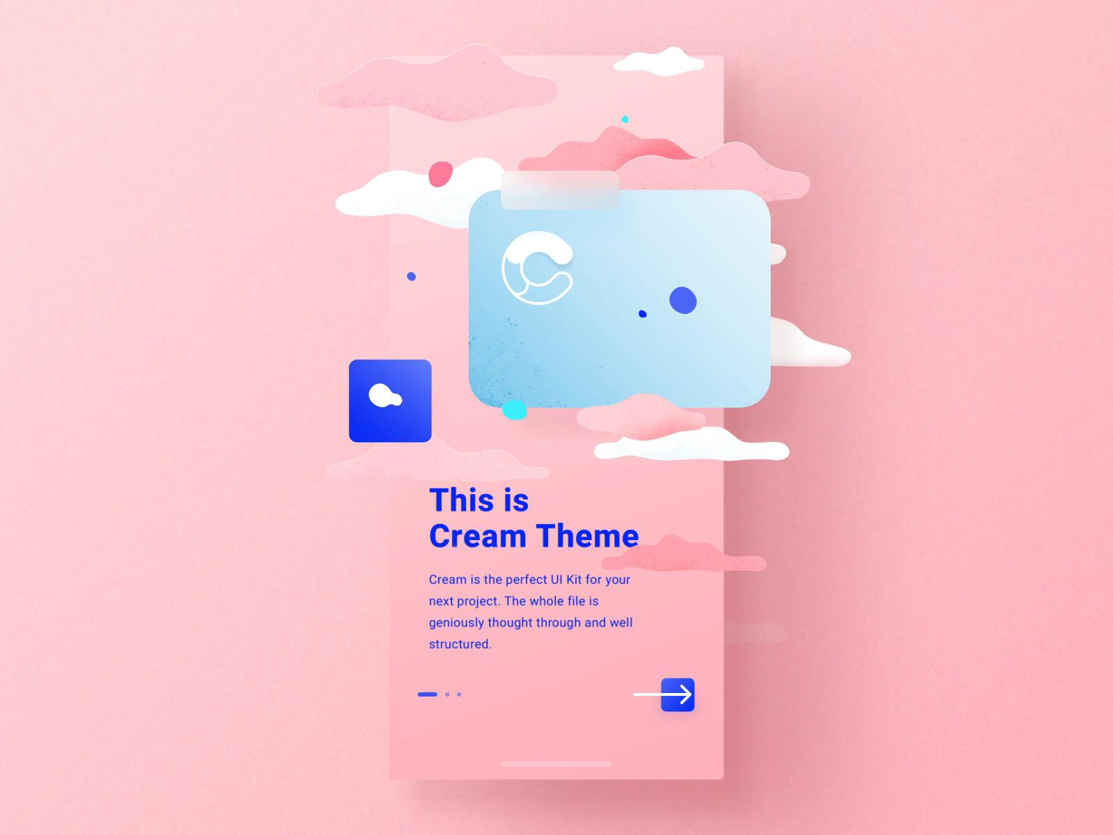 Cream iOS UI Kit  #interfacedesign