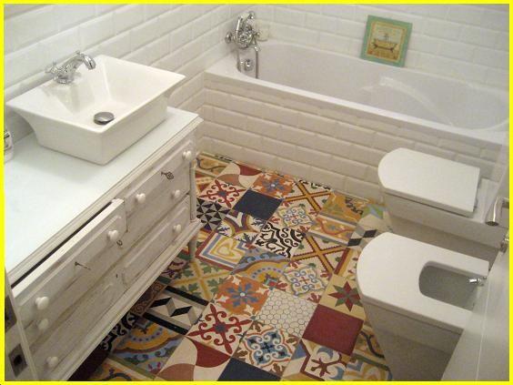 mosaico de baldosas hidrulicas para el bao