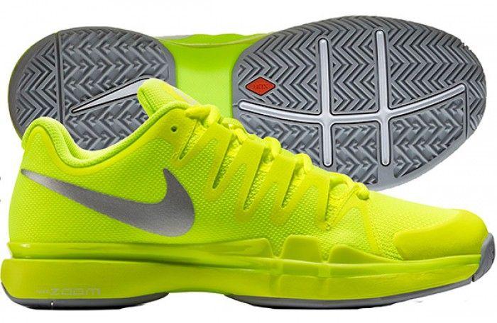 Nike Womens Zoom Vapor 9.5 Tour Yellow Tennis Shoes