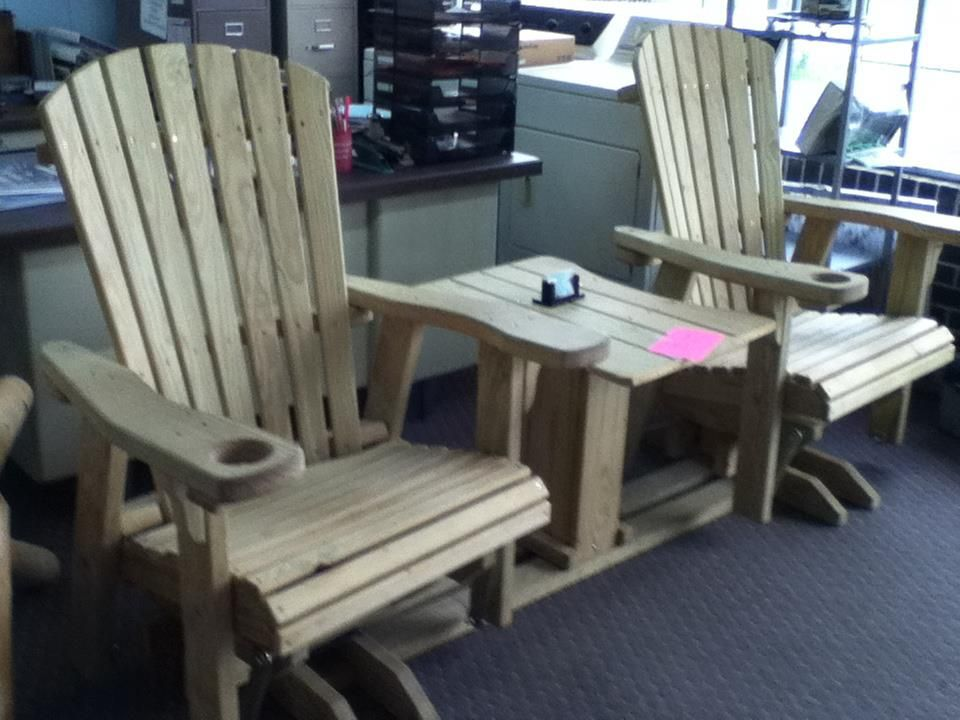 chairs wooden swivel glider patio outdoor does any body have plan