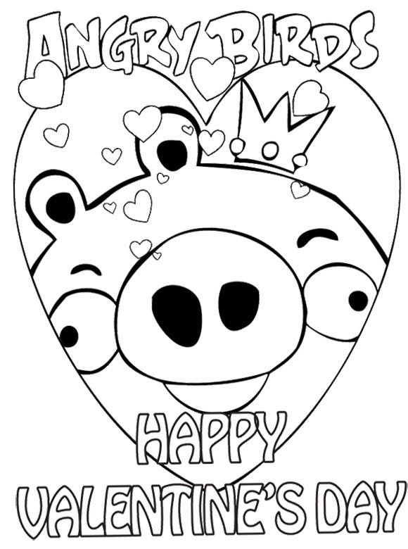 Angry birds valentines day coloring pages makayla would love this