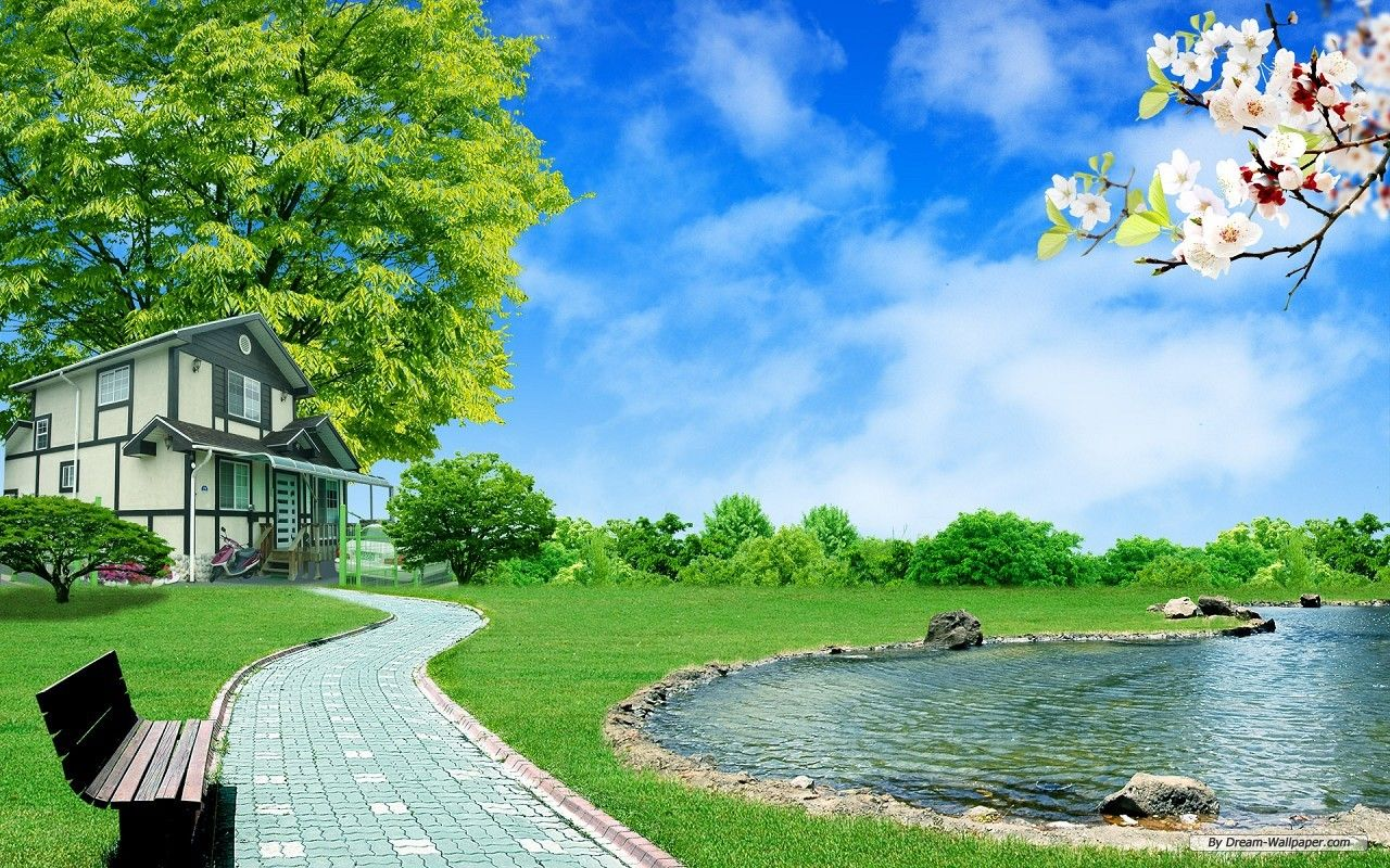 Dream Homes Pictures Free Nature Wallpaper Dream Homes 1 Wallpaper 1280x800 Wallpaper Lanskap Rumah Seni Jalanan