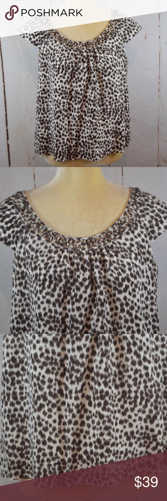 16129bc27c698 Kate Spade Whitney Cream Safari Animal Print Top Women s blouse from Kate  Spade New York