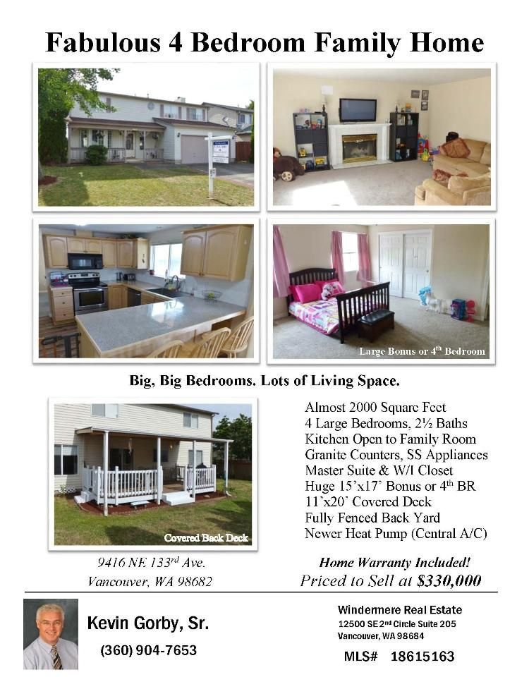 Real Estate For Sale At 330 000 Come And View This Fabulous Four Bedroom Two Full And One Half Bath 1996 Square Big Bedrooms Real Estate Real Estate Flyers