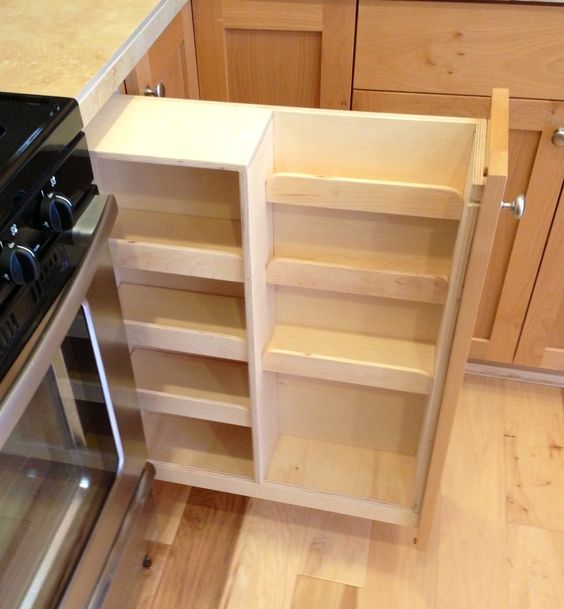 Spice Rack For Kitchen Cabinets: Pull Out Spice Rack Cabinet