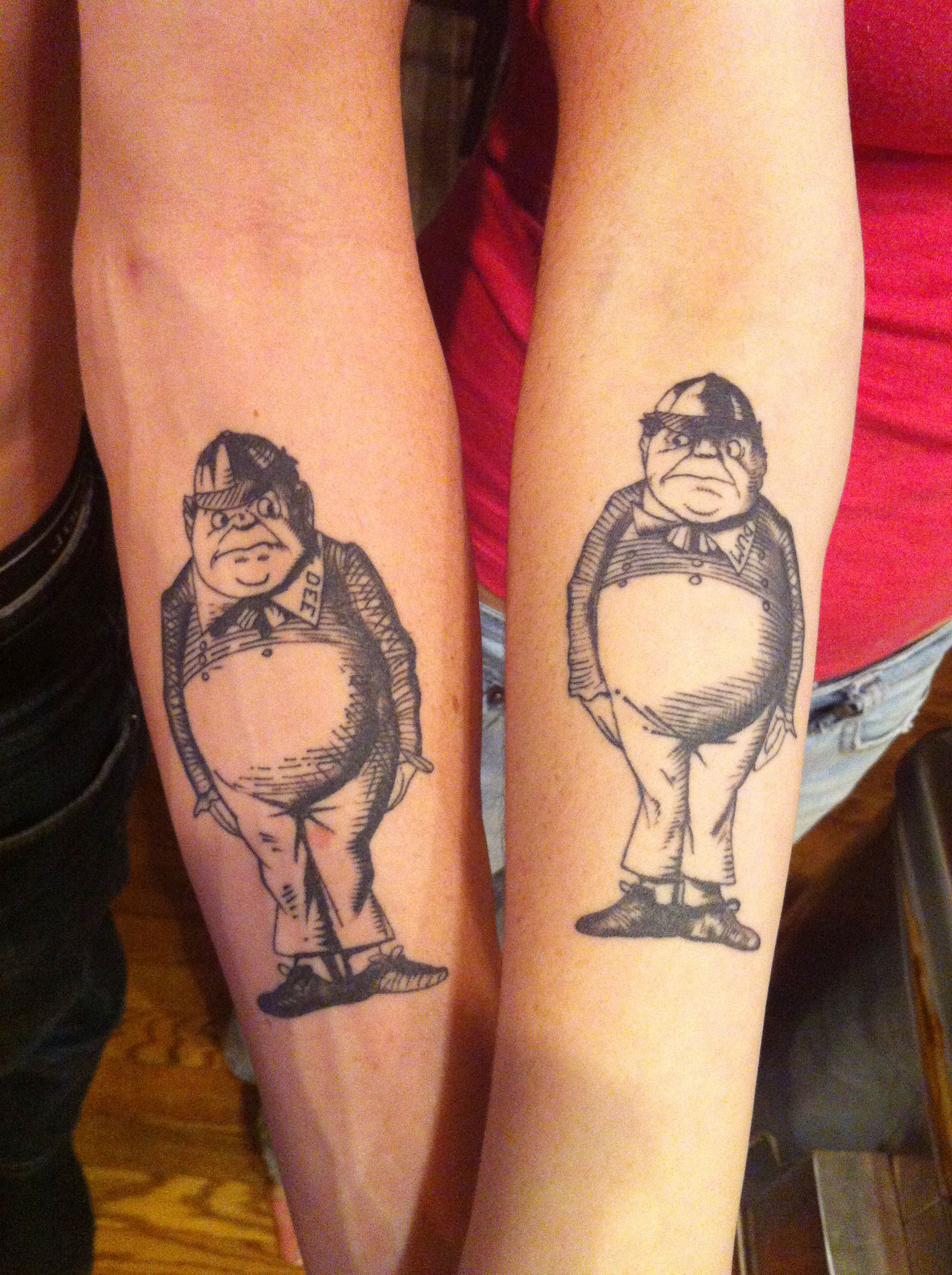 Brother/Sister tattoo Our last name is Tweedle so it ...