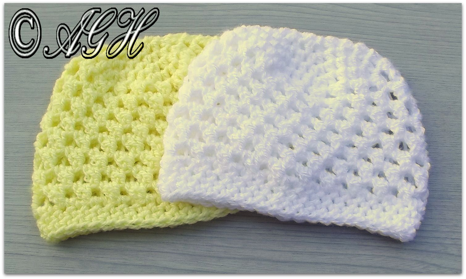 butterfly beanie white and yellow | free crochet pattern from AG ...
